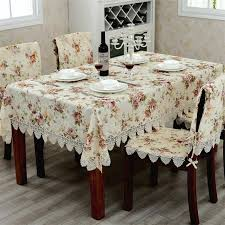 tablecloth for oval dining table elegant european pastoral lace tablecloths flower printed jacquard