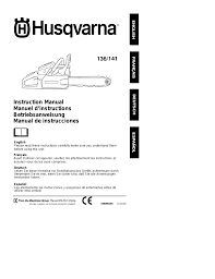 husqvarna 136 user manual 15 pages also for 141