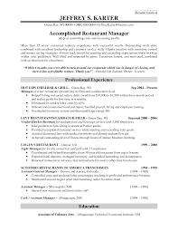 supervisor resume objective examples cv examples for bar jobs