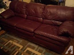 Maroon Leather Sofa Obo Maroon Leather For Sale In Waxahachie Classified
