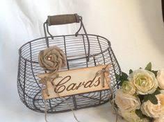 Basket For Wedding Programs Rustic Southern Wedding Programs Oval Wire Basket Burlap Cards