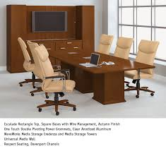 National Waveworks Reception Desk Escalade Conference Table Waveworks Media Storage Credenza