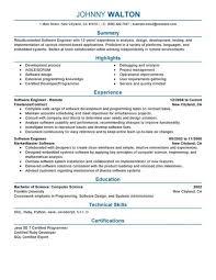 Senior Software Engineer Resume Template Skill Resume Customer Service Skills Resume Free Samples List Of