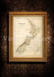 antique new zealand map 1881 old map of new zealand vintage new