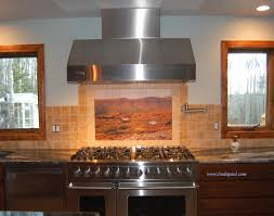 custom kitchen backsplash kitchen custom tile murals from your or photo reproduction