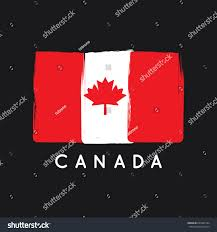 canada flag logo vector template stock vector 645242104 shutterstock