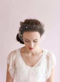 pearl adorned bandeau birdcage veil style 430 twigs u0026 honey