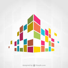 colorful building abstract colorful building vector free download