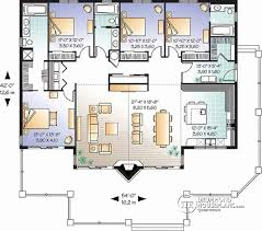 House Plans with Two Master Suites Beautiful W3942 Lakefront House