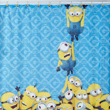 minion wrapping paper minions despicable me shower curtain walmart canada