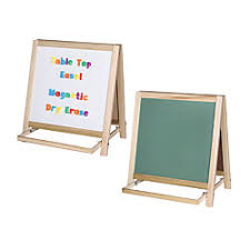 office depot table top easel flipside magnetic dry erase chalk table top easel 20 14 x 18 14 x 20