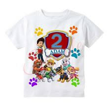 personalized custom paw patrol birthday shirt u0026 age gift