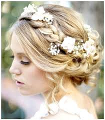 wedding flowers in hair side braid with flowers wedding weddings hair