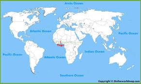 togo location on world map togo location on the world map