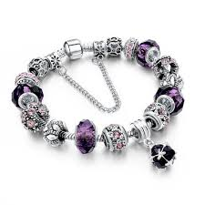 diy crystal bead bracelet images 925 silver crystal charm bracelets for women with purple murano jpg