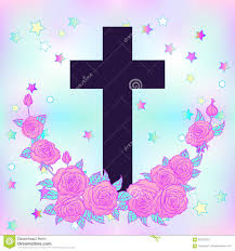 blue and pink halloween background vanilla cross glamour halloween background in neon pastel color