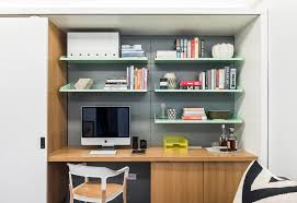 Small Desk With Shelves by Home Office Floating Shelves Home Office Contemporary With Sliding