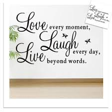 live laugh love home decor english word live laugh love quote decal removable art wall
