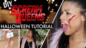 scream halloween costumes kids diy scream queens halloween costume fx makeup chloe cori youtube