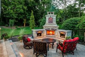 Outdoor Fireplace Patio Brown Brick Fireplace Patio Traditional With Grass Outdoor Pizza