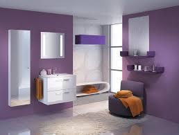 Alluring  Purple Bathroom Interior Decorating Design Of Best - Home colour design