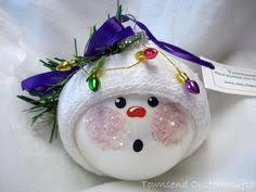 snowman ornament ping pong baby sock