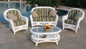 White Wicker Patio Furniture Sets Home Design Ideas And Pictures - Outdoor white wicker furniture