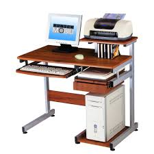 Rolling Laptop Desk by Costway Computer Desk W Printer Shelf Stand Rolling Laptop Home