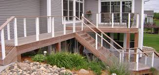 cable deck railing home gallery decks railings staircases