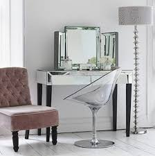 Mirrored Makeup Vanity Table Silver Vanity Table Shelby Knox