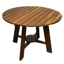 round wood patio table outdoor dining table wood exotic round by sergio rodrigues for 23