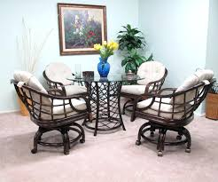 Dining Room Chairs With Casters And Arms Dining Chairs Tilt Swivel Dining Chair With Casters Casual