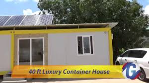 40 ft luxury container house in suriname youtube