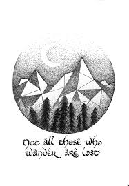 quote drawings lord of the rings quote geometric mountains by ilikeyourdad on