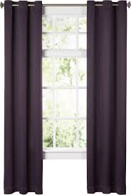 Thick Purple Curtains Room Darkening Curtains Brown Blackout Home At