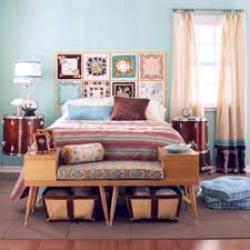 wicker headboard platform bed and furniture combined peach painted