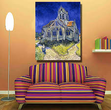 online shop hdartisan vincent van gogh the church in auvers sur online shop hdartisan vincent van gogh the church in auvers sur oise view from chevet wall art oil painting on canvas wall painting picture aliexpress