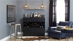 south shore vietti bar cabinet with bottle and glass storage black