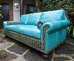 Aqua Leather Chair Teal Leather Sofa Best Home Furniture Decoration