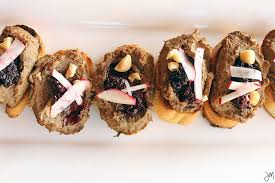 julip made chicken liver pate blackberry hazelnut crostini