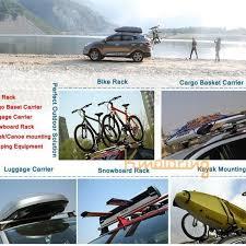Car Top Carrier Cross Bars 2pcs Car Roof Rack Cross Bars With Lock Anti Theft Suv 4x4 Top