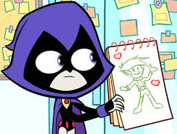 image raven u0027s drawing beast boy png teen titans wiki