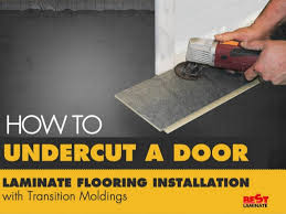 Laminate Flooring Installation Tips How To Undercut A Door Laminate Flooring Installation With Transiti