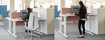 Electronic Height Adjustable Desk by Haworth Hop Height Adjustable Desk Modern Planet
