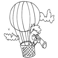 air balloon coloring pages free printables