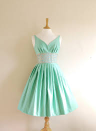 size uk 8 us 4 6 mint green cotton satin prom dress made by