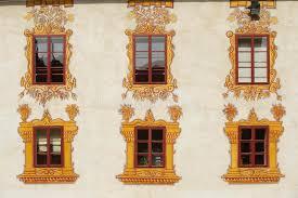 decorated castle windows stock photo image of architecture 27040592