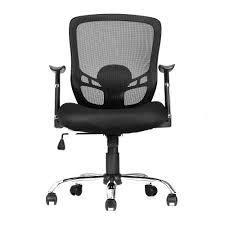 Black And White Desk Chair by Moustache Office Mesh Task Chair With Armrest Mid Back Black