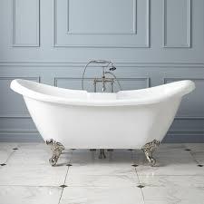 4 Foot Bathtub Rosalind Acrylic Clawfoot Tub Imperial Feet Bathroom