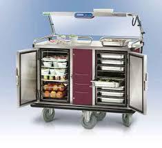 chariot chauffant cuisine chariot easyserv pour distribution de repas en multi portions